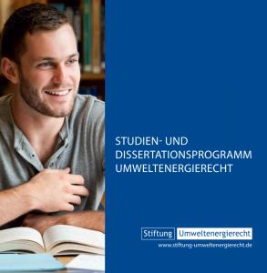 Studien- und Dissertationsprogramm Umweltenergierecht