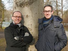 Die Projektleiter Nils Wegner (links) und Johannes Hilpert