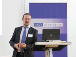 """Daniel Markus vom Landesamt für Umwelt Brandenburg sprach zu """"Herausforderungen bei der Durchführung der UVP-Vorprüfung"""""""
