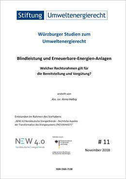 """Würzburger Studien zum Umweltenergiercht Nr. 11 """"Blindleistung und Erneuerbare-Energien-Anlagen"""""""
